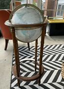 """Crams Imperial 12"""" World Globe Powell 4 Legs Stand Vintage Read Description"""