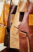 Jojo Leather 102 Apron For Butcher Bbq, Grill, Kitchen, Woodwork, Barber Welding