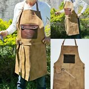 Jojo Leather 102 Apron For Butcher Bbq Grill, Kitchen, Woodwork, Barber Welding