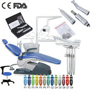 Dental Unit Chair Hard Leather Dc Motor+led Light /contra Angle Handpiece M4 Kit