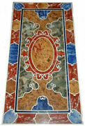 4and039x2and039 Marble Table Top Coffee Semi Precious Antique Inlay Home Pietra Dura W202