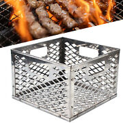 High Quality Stainless Steel Drum Smoker Anti-rust Square Bbq Charcoal Basket