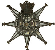 Pair Of Paul Ferrante Brutalist Iron/glass Mirrored Sconces - Exceptional