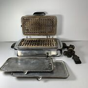 Vintage Rare Kenmore Sears Roebuck And Co Waffle Iron Griddle Model 307 66181 Mcm