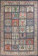 Garden Design Traditional Oriental Area Rug Hand-knotted Wool 9x12 Ft Home Decor