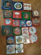 Vintage Disney Lot Of 23 Ornaments Disc Christmas Mickey Mouse Pooh Donald Duck
