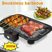 Indoor/outdoor Portable Electric Barbecue Grill Cooking Smokeless Bbq 2000w