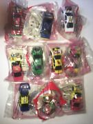 Lot 10 Kelloggs Cereal Nascar Pull N Go Pro Racing Diecast Toy Cars Sealed 1999