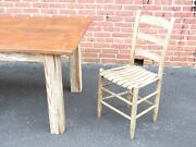Reclaimed Antique Heart Pine Farmhouse Table French English Class Primitive