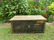 Antique Joinerand039s Chest English Pine Craftsmanand039s Trunk Victorian Circa 1850