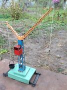 Vintage Ussr Construction Crane Toy For Children 1960's Very Rare