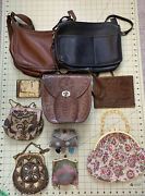 Lot Of 10 Vintage And Antique Purses And Wallets - Costume Repair - Coach Beaded
