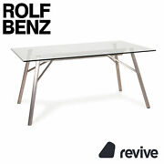 Rolf Benz Glas Table Dining Table Stainless Steel
