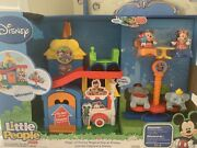 Fisher Price Little People Magic Of Disney Day At Disney Mickey Playset New