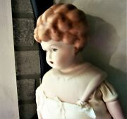 Vintage Parian China Head Doll 19 Handmade Great Boots Hertwig-style To Dress