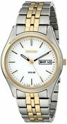 Seiko Menand039s Sne032 Two-tone Stainless Steel Solar Watch