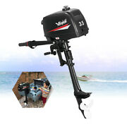 2 Stroke 3.5hp Complete Outboard Motor Engine 2 W/water Cooling Andtiller Control