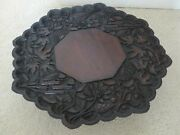 Large Antique Anglo Indian Carved Wooden Table Centerpiece / Lazy Susan