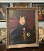 Massive Antique 19th Century Oil Portrait Painting Of King George Iv Lawrence