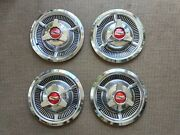 Vintage Chevrolet Hubcaps 14 Spinners Late 1950and039s Set Of 4