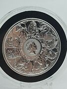 2021 Gb Queen's Beasts Completer Silver Coin .999 Fine Silver In Hand 2 Oz