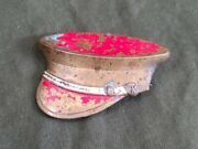 Vintage Wwii Us Army Hat Shaped Sweetheart Pin Brooch 1940s Statement Piece