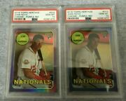 2018 Topps Heritage Chrome Refractor Juan Soto Rookie Rc Gem Mint 10- 2 Cards
