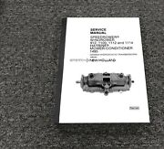 Sperry New Holland 912 1100 Speedrower Cessna Transmission Service Repair Manual
