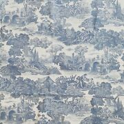 Waverly Toile Fabric Screen Print La Belle Campagne 4.5 Yards X 54 Discontinued