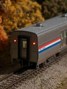 Custom Kato N Scale Amtrak Viewliner Baggage 61006 Interior Lighted And Markers