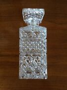 New Bohemia Crystal Decanter Set Stopper Vintage Antique Glass Cut Wine Whiskey