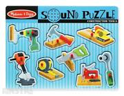 Construction Tools Sound Puzzle | Melissa And Doug Sound Puzzle Wooden Toys