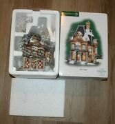 Dept 56 Dickens Village Series Boz's Books With Sign In Original Packaging