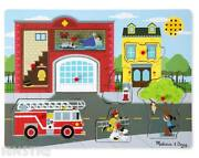 Around The Fire Station Sound Puzzle | Melissa And Doug Sound Puzzles Wooden Toy