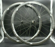 Williams System 38 Carbon Clincher 700c Wheel Set Fiber Cycling W/ Skewers