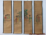 China Calligraphy Paintings Scrolls Old Chinese Painting Scroll Four Screen Z386