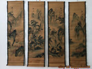 China Calligraphy Paintings Scrolls Old Chinese Painting Scroll Four Screen P298