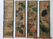 China Calligraphy Paintings Scrolls Old Chinese Painting Scroll Four Screen W918