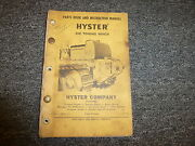 Hyster D4e Towing Winch For Cat D4 Tractor 955 933 Parts Catalog And Owner Manual