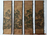 China Calligraphy Paintings Scrolls Old Chinese Painting Scroll Four Screen X822