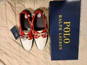 New Polo Mens 11.5d Team Usa Rio 2016 Olympic Leather Boat Shoes Us