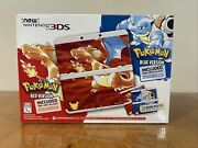 New Nintendo 3ds Pokemon 20th Anniversary Red And Blue Edition Console Bundle