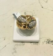 Ring New Yellow Gold 18kt Diamonds Cut Bright Ct 0.36 Colour H - 50