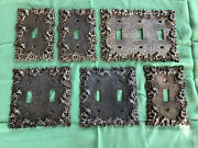 6 Vintage Ornate Electrical Outlet Light Switch Plate Brass Metal Edmar Covers