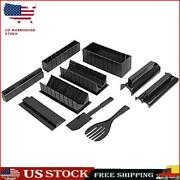 Sushi Making Kit, 10 Pack Sushi Maker Tool With Rice Roll Mold Fork Spatula S1