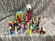 Pez Dispensers Lot Of 27 Musical Snoopy Witches Garfield More