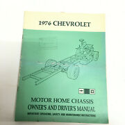 1976 Chevrolet Motor Home Chassis Factory Owners And Drivers Manual Operators