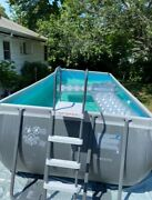 Pick Up Only- Intex 18ftx9ftx52in Ultra Xtr Rectangular Pool W Sand Filter Pump