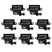 Msd Ignition 826483 Blaster Ls Coil In Black Fits 2009 Chevrolet And Gmc Pack Of 8
