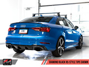 Awe Tuning 2017-2020 Audi Rs3 8v Sedan Switchpath Exhaust System Black Tips